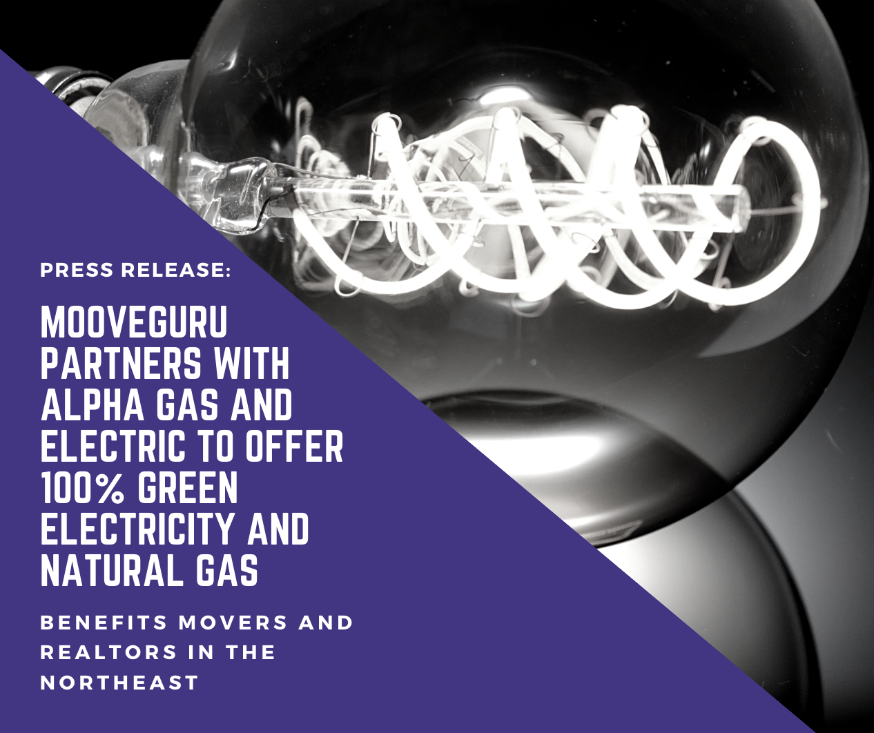 MooveGuru Partners with Alpha Gas and Electric to Offer 100% Green Electricity and Natural Gas Supply to Movers in the Central and Northeast U.S.